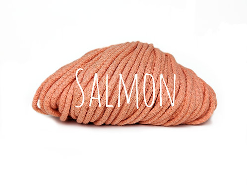 Premium Chunky Cotton yarn -  Salmon 5mm