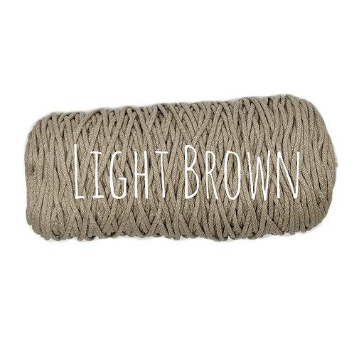 Cotton yarn - Light Brown - 3mm for Macrame / Crochet / Knitting
