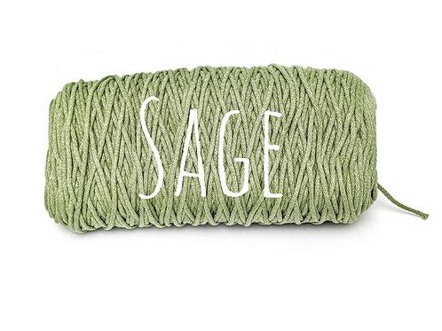 Cotton yarn - Sage - 3mm for Macrame / Crochet / Knitting