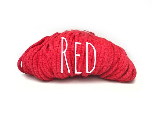 Chunky Cotton yarn - Red 5mm
