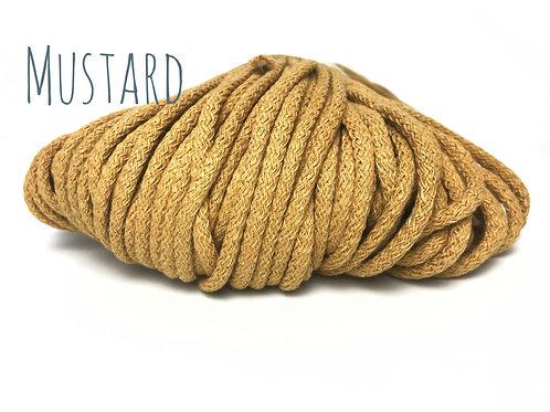 Chunky Cotton yarn - Mustard 5mm