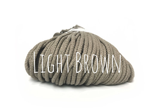 Premium Chunky Cotton yarn - Light Brown 5mm
