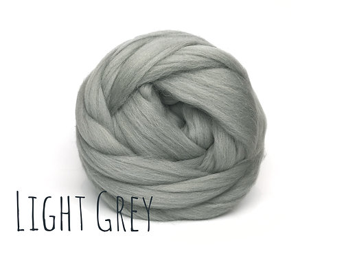 Super Chunky Wool - Light Grey