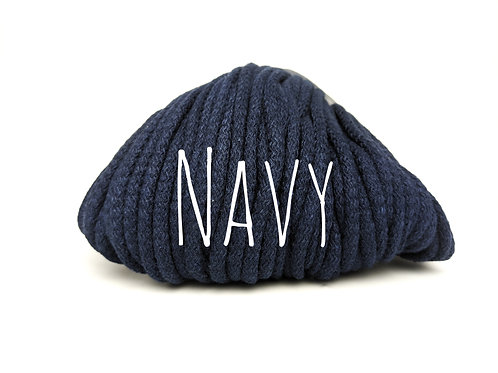 Chunky Cotton yarn - Navy 5mm