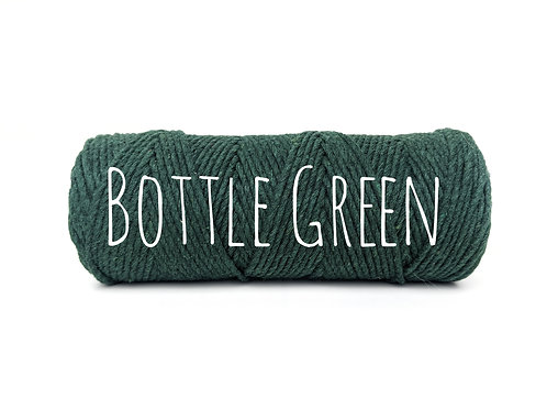 Twisted 3ply Cotton Rope - Bottle Green 2mm
