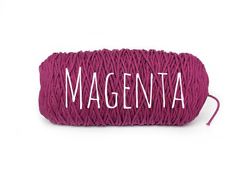 Cotton yarn - Magenta - 3mm for Macrame / Crochet / Knitting