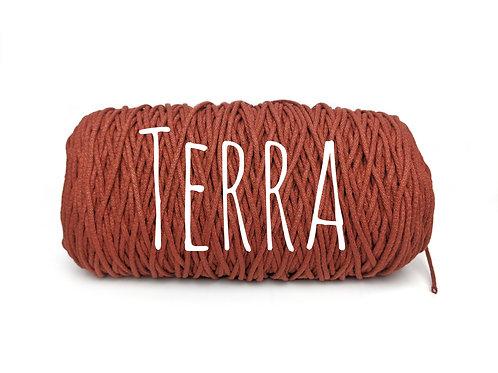 Cotton yarn - Terra - 3mm for Macrame / Crochet / Knitting