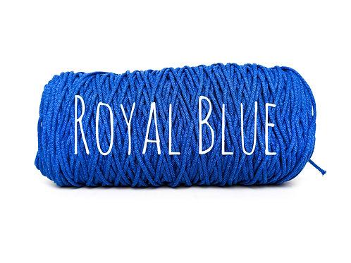 Cotton yarn - Royal Blue - 3mm for Macrame / Crochet / Knitting