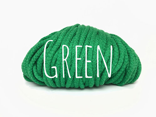 Chunky Cotton yarn - Green 5mm