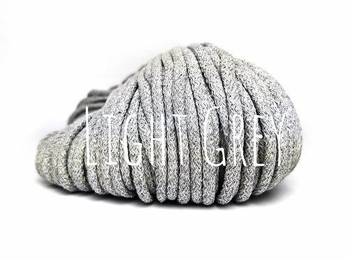 Chunky Cotton yarn - Light Grey 5mm