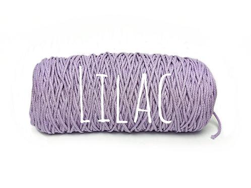 Cotton yarn - Lilac - 3mm for Macrame / Crochet / Knitting
