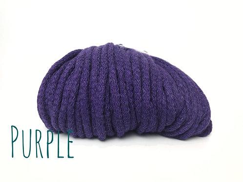 Chunky Cotton yarn - Purple 5mm