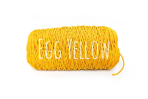 Cotton yarn - Egg Yellow - 3mm for Macrame / Crochet / Knitting