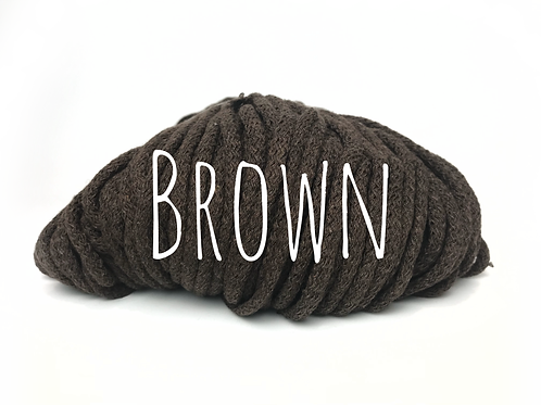 Chunky Cotton - Brown 5mm