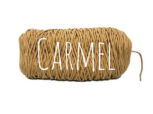 Cotton yarn - Carmel - 3mm for Macrame / Crochet / Knitting