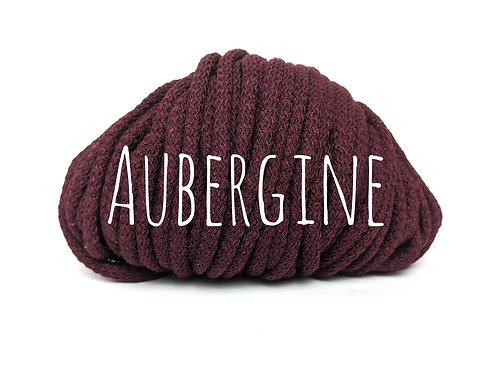 Chunky Cotton yarn - Aubergine 5mm