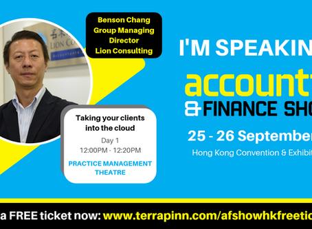 Speaker of Accounting & Finance Show HK 2019