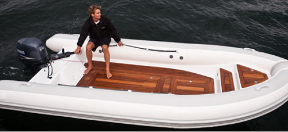 Low weight Carbon fibre yacht tenders use less fuel and require less crane power.