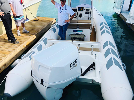 OXE Diesel outboard engines exhibited at Superyacht Shows for the first time.