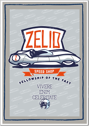 ZELIO SPEED SHOP POSTER