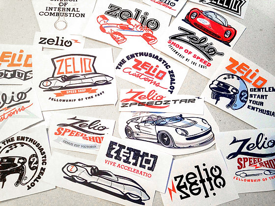 20 ASSORTED ZELIO STICKERS