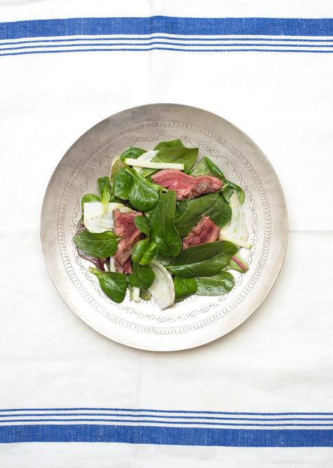 Steak, fennel and apple salad