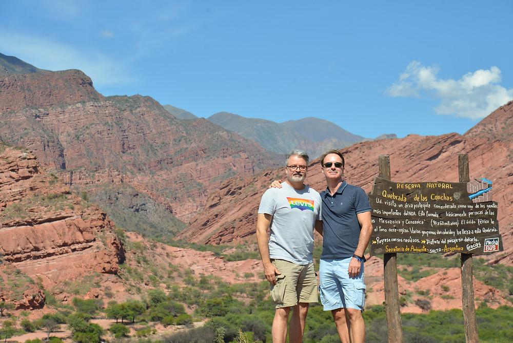 Photo of couple in Shells Canyon northwest Argentina