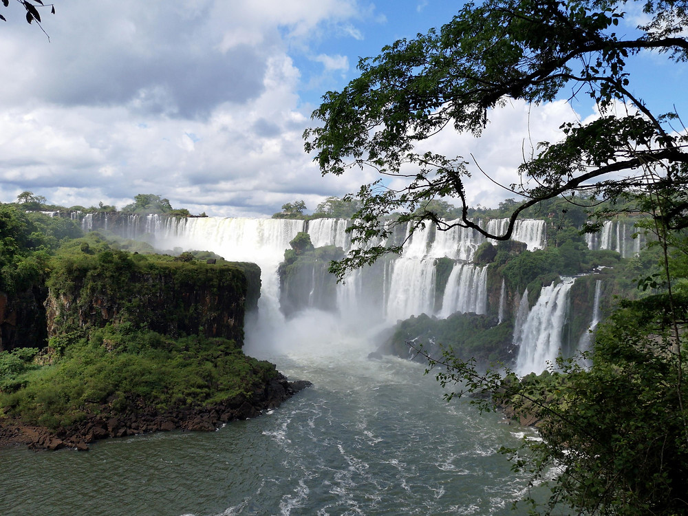 view of Iguazu waterfalls