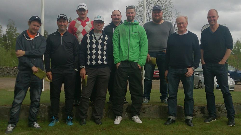 Deltagare i JLI AB Scramble på Källebackens golfbana