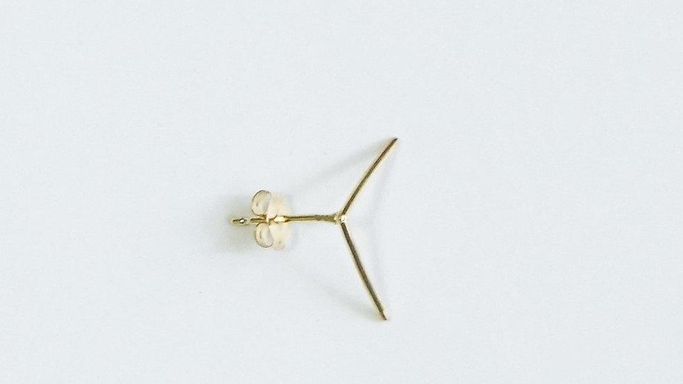 K18 rune pierced earrings⦅LINE⦆single