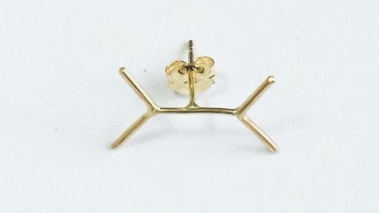 K18 rune pierced earrings single
