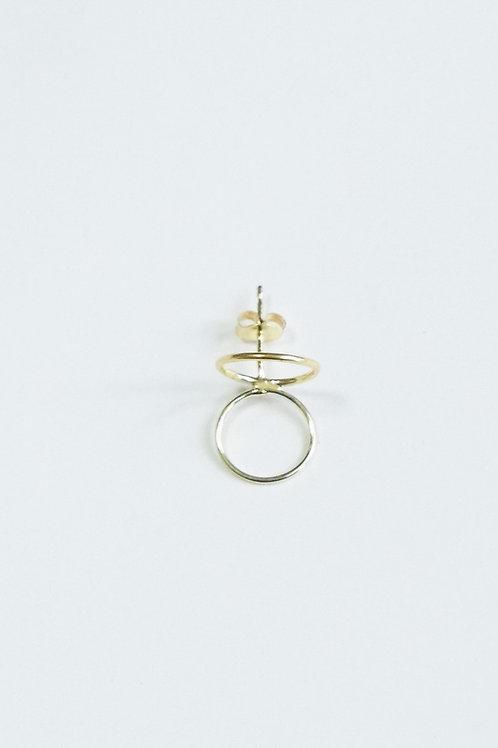 K18 rune pierced earrings ⦅circle⦆