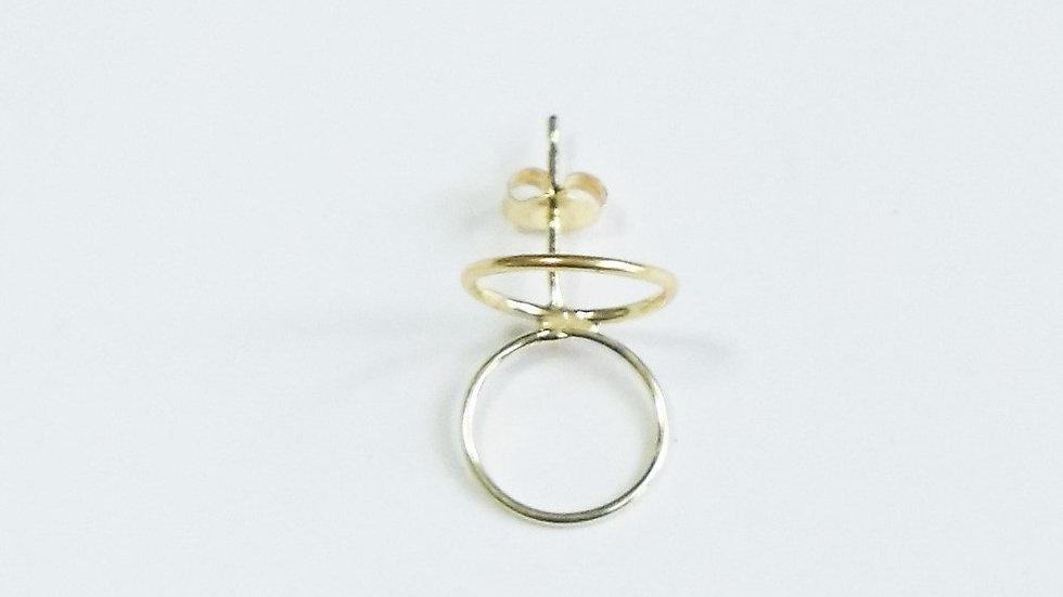 K18 rune pierced earrings ⦅circle⦆single