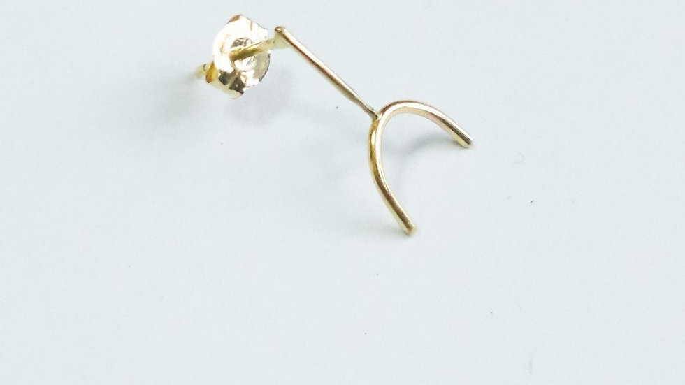 K18 rune pierced earrings ⦅HALF⦆single