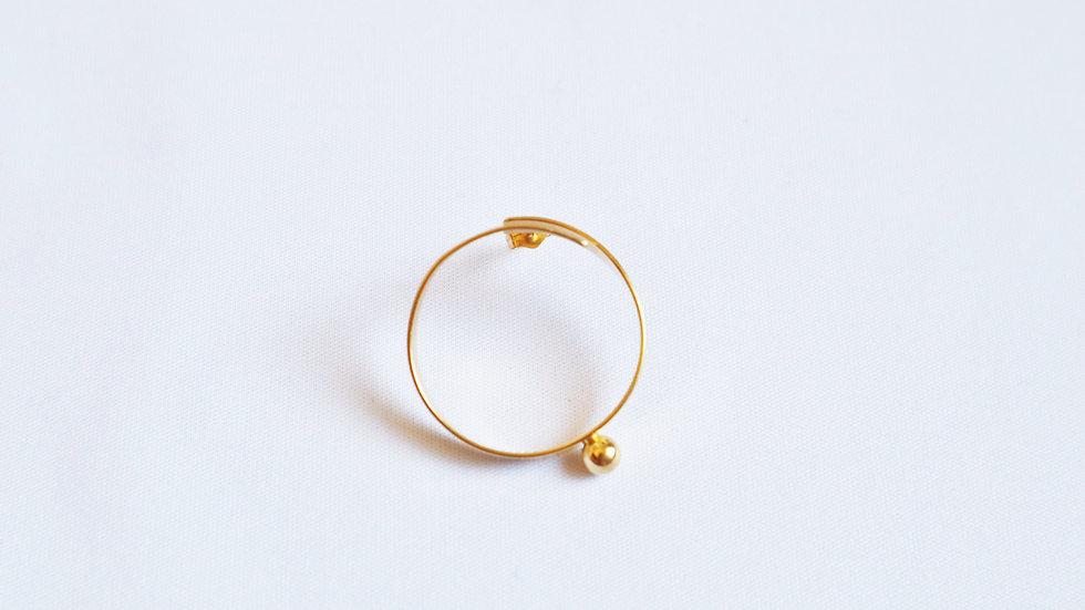 BALL HOOP pierced earrings S GD⦅single⦆