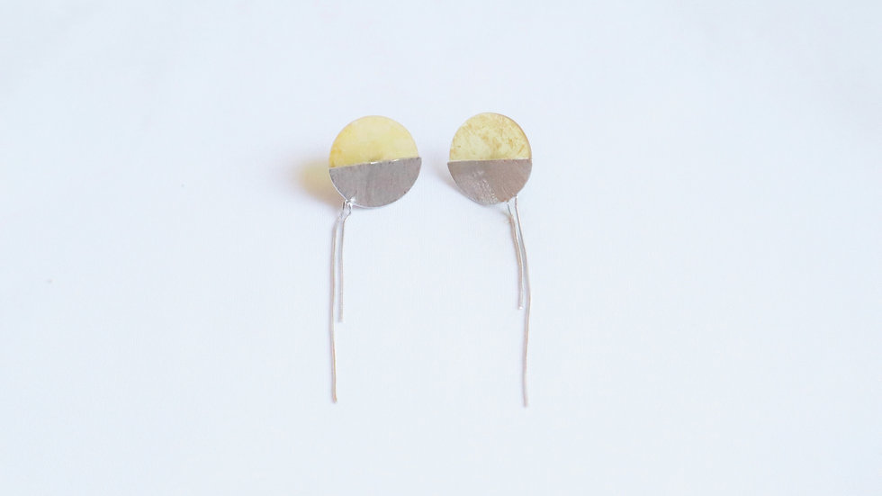 chain pierced earrings⦅べっ甲⦆SET