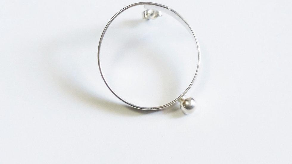 BALL HOOP pierced earrings S