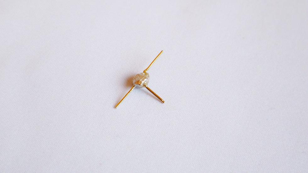 K18stone pierced earrings⦅single⦆
