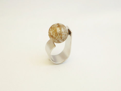 fossil coral ring L