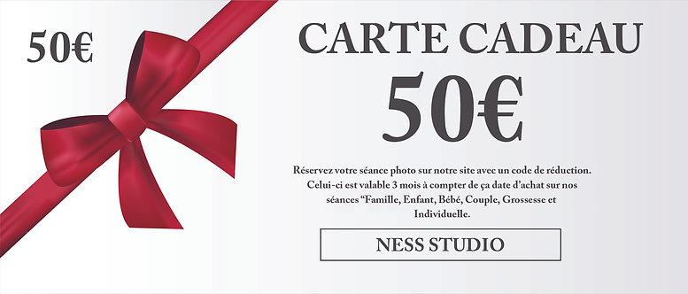 Carte cadeau de 50€
