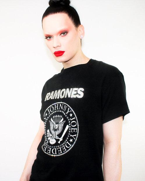 The Ramones - Rhinestoned Black T-Shirt