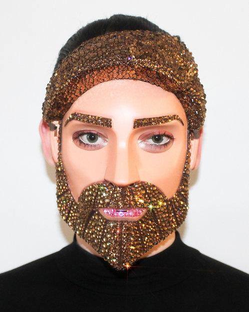 Rhinestone Obi One Kenobi Crystal Face Mask - Male / Mens Face Mask