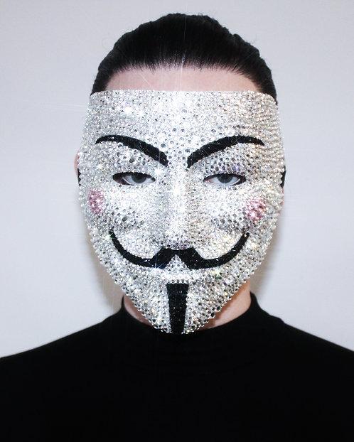 Crystal Rhinestone Anonymous / Vendetta Mask