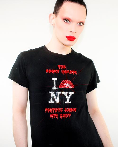 Rocky Horror NYC Cast - Rhinestoned Black T-Shirt