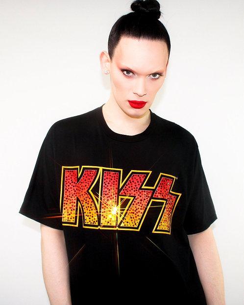 Kiss - Rhinestoned Black T-Shirt