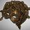 Thumbnail: Gold Medusa Mask With Green Crystal Rhinestone Eyes