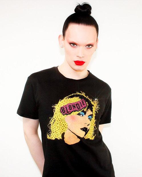 Blondie - Rhinestoned Black T-Shirt