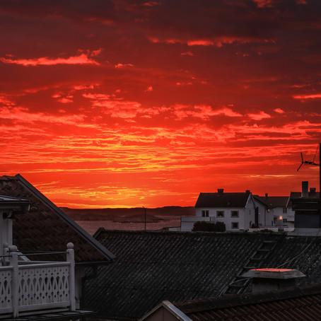 Vackra solnedgångar på västkusten.