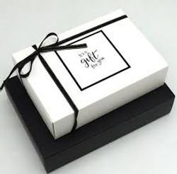 black and white gift box