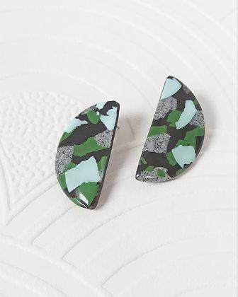Margot Terrazzo Noir Granite et Vertes
